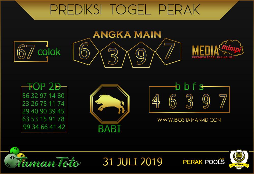 Prediksi Togel PERAK TAMAN TOTO 31 JULI 2019