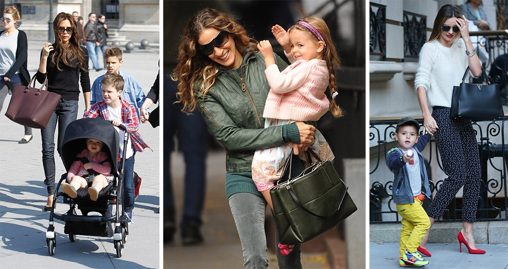 A Modern Mom with the Right Bag