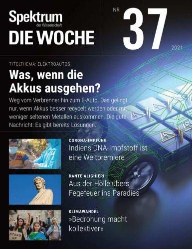 Cover: Spektrum die Woche Magazin September No 37 2021
