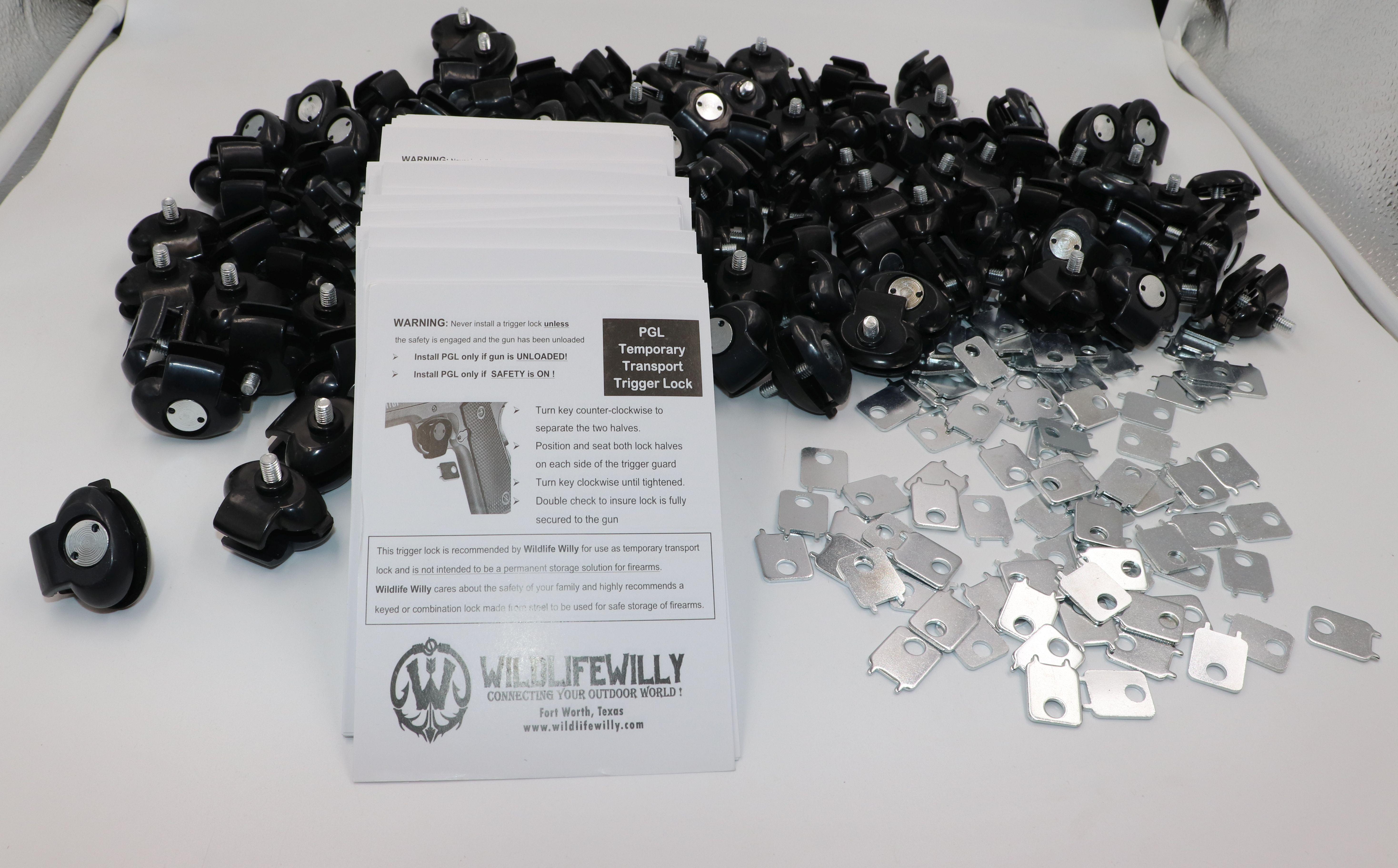 HUGE LOT 36 Gun trigger LOCKS 12 Bell Economy bulk 12-3 Lock sets Pawn shop