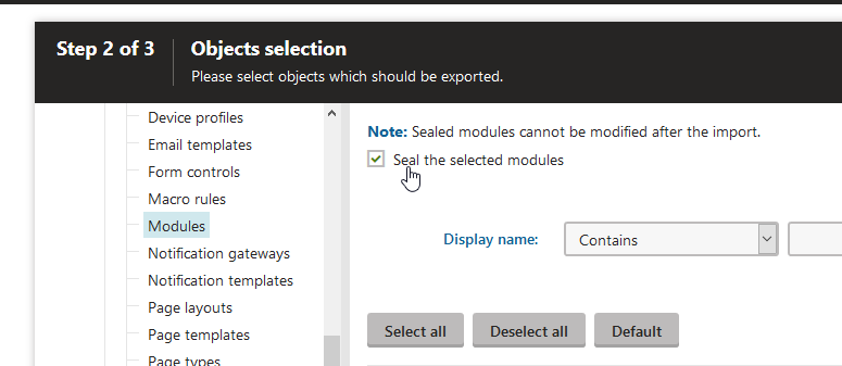 Exporting custom module to staging