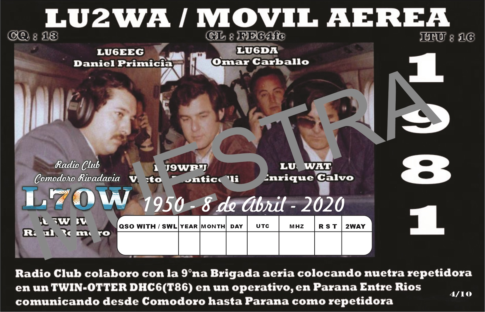 LU2 WA Muestra 4 - L70W