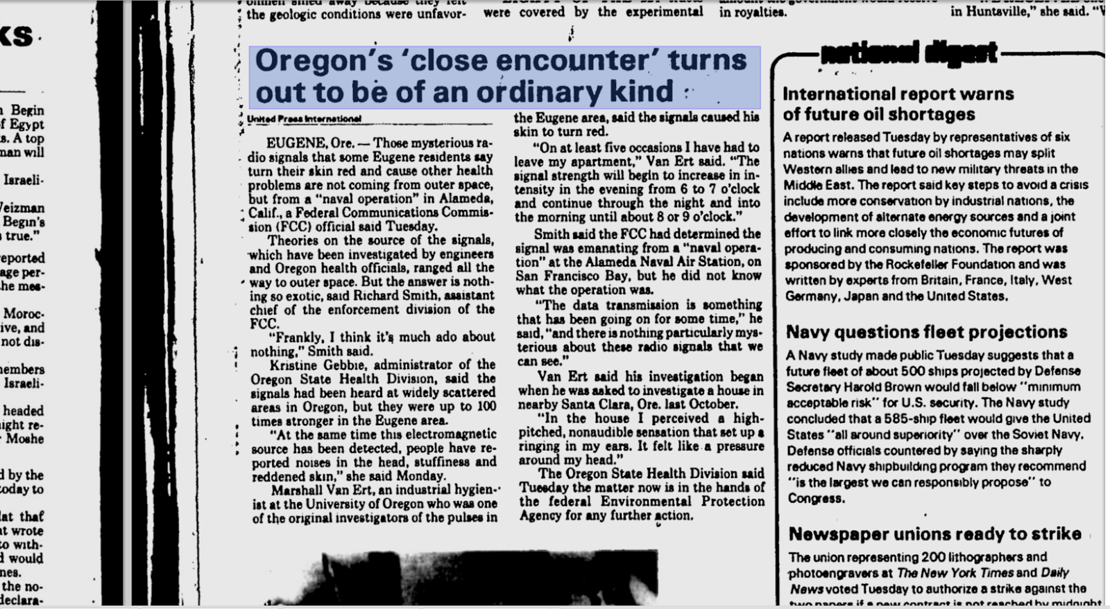 Eugene Register Guard Article
