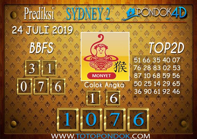 Prediksi Togel SYDNEY 2 PONDOK4D 24 JULI 2019