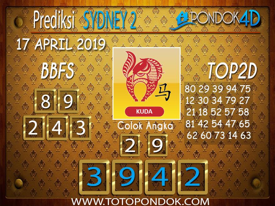 Prediksi Togel SYDNEY 2 PONDOK4D 17 APRIL 2019