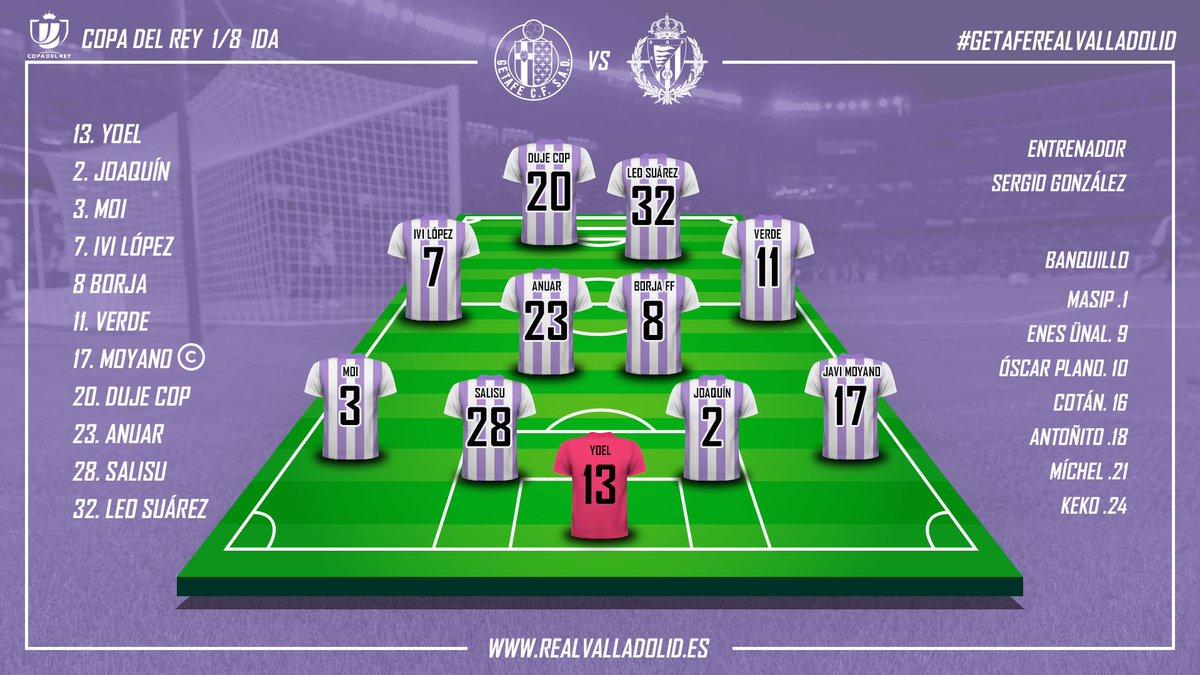 Getafe C.F. - Real Valladolid. Miércoles 9 de Enero. 20:30 Alineacion-vs-GET