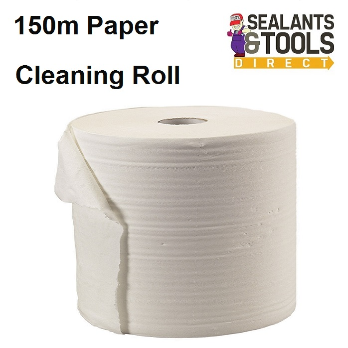 Everbuild Glass Plastic Paper Cleaning Wipes Roll 150 meters