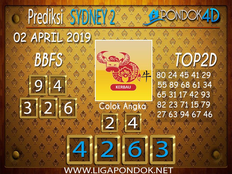 Prediksi Togel SYDNEY 2 PONDOK4D 02 APRIL 2019