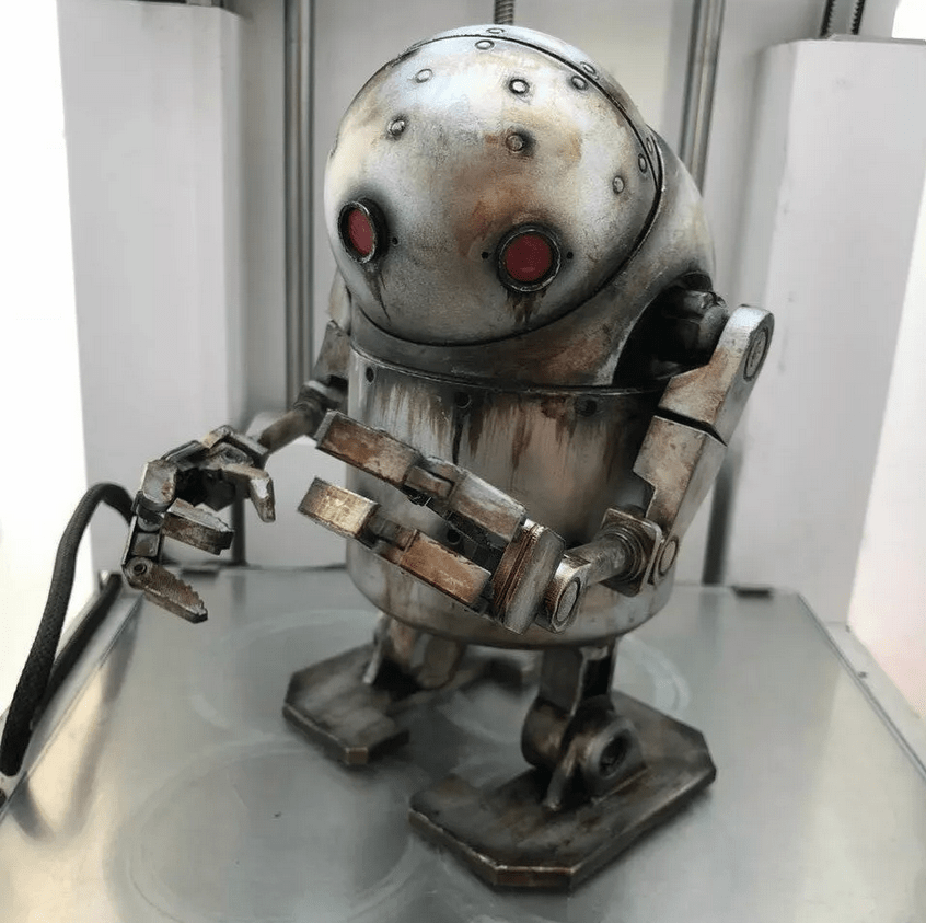 Nier Automata Small stubby Robot Toy from IVANVOLOBUEV