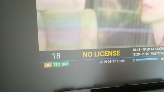 Canales DTV sin nombre NOLICENSE en KI Pro