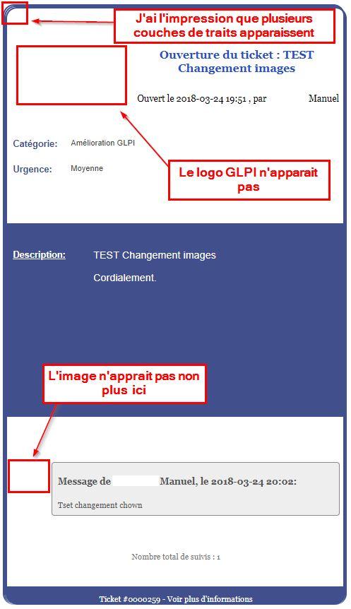 GLPI pb Notif