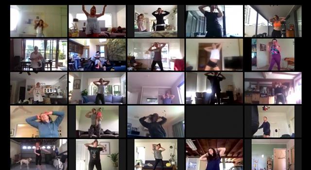 ZOOMba fitness exercise