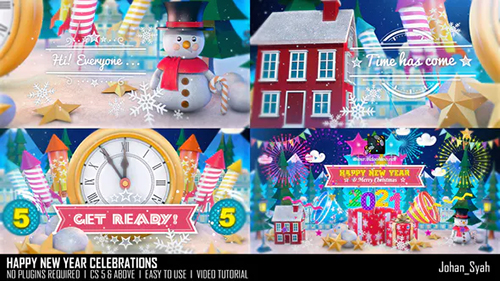 Happy New Year Celebrations 29703735 - Project for After Effects (Videohive)