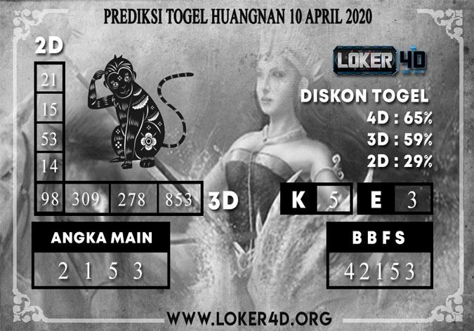 PREDIKSI TOGEL HUANGNAN LOKER4D 10 APRIL 2020