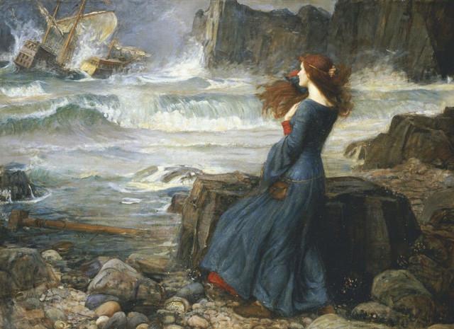 Miranda The Tempest by john w waterhouse