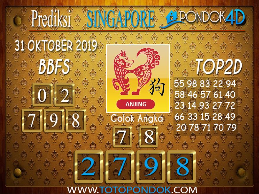Prediksi Togel SINGAPORE PONDOK4D 31 OKTOBER 2019