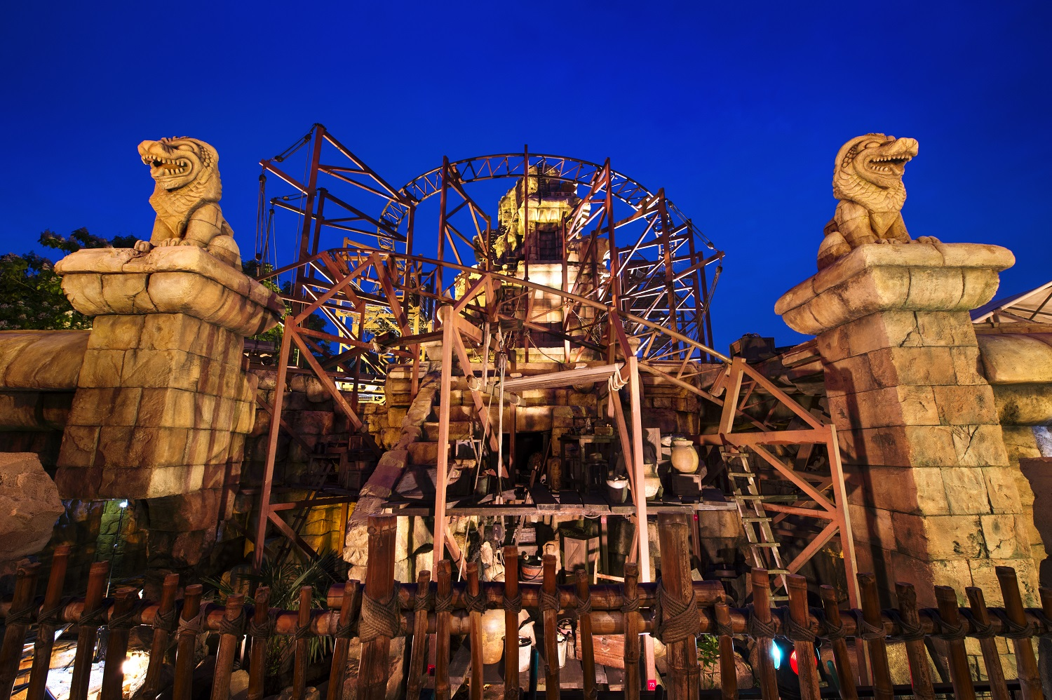 Indiana Jones ride at Disneyland Paris