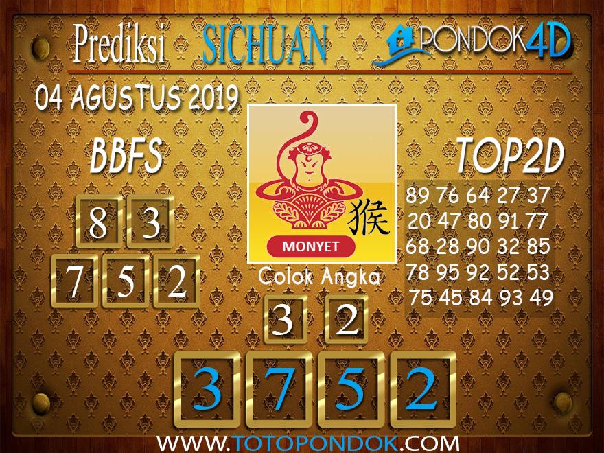 Prediksi Togel SICHUAN PONDOK4D 04 AGUSTUS 2019