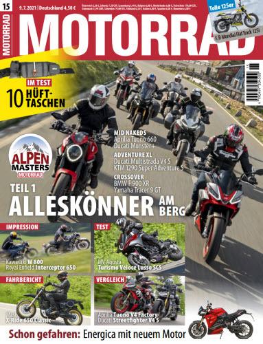 Cover: Motorrad Magazin No 15 vom 09  Juli 2021