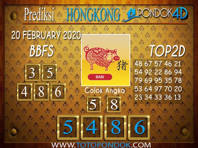 Prediksi Togel HONGKONG PONDOK4D 20 FEBRUARY 2020