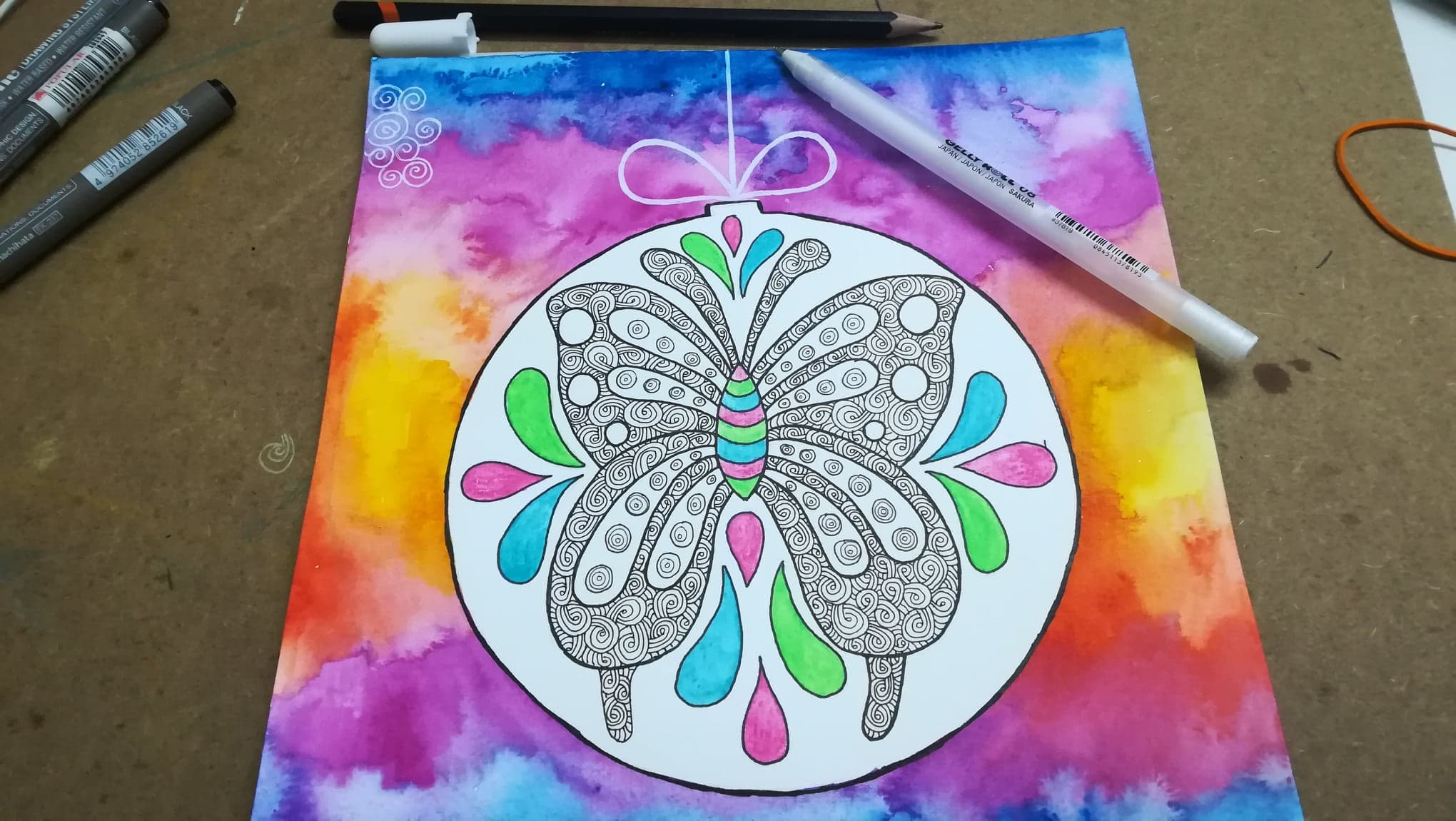 butterfly doodle art