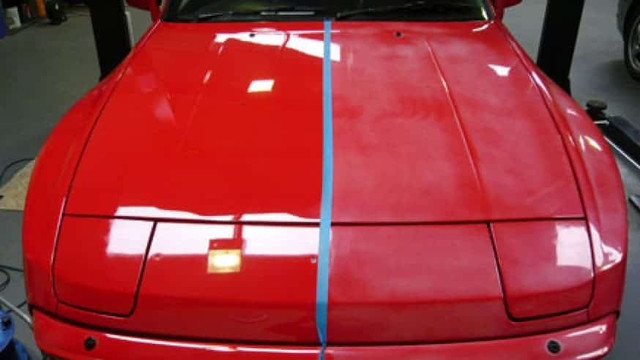 How to burn faded and frosted car paint in a simple