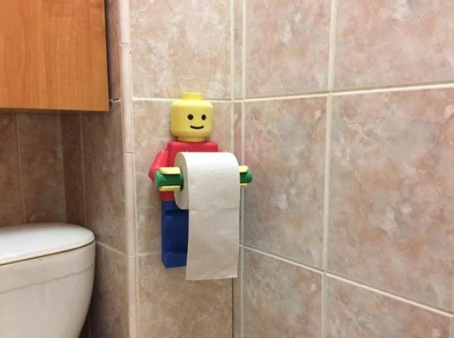 Lego_Man. Holder Toilet Paper - Cool Things to 3D Print