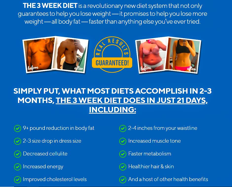 3 Week Diet The Astonishing Weight Loss Program Does It Work