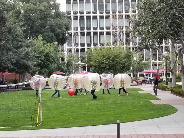 Bubble Soccer at the University of Southern California for Team Building on 2/18/19.