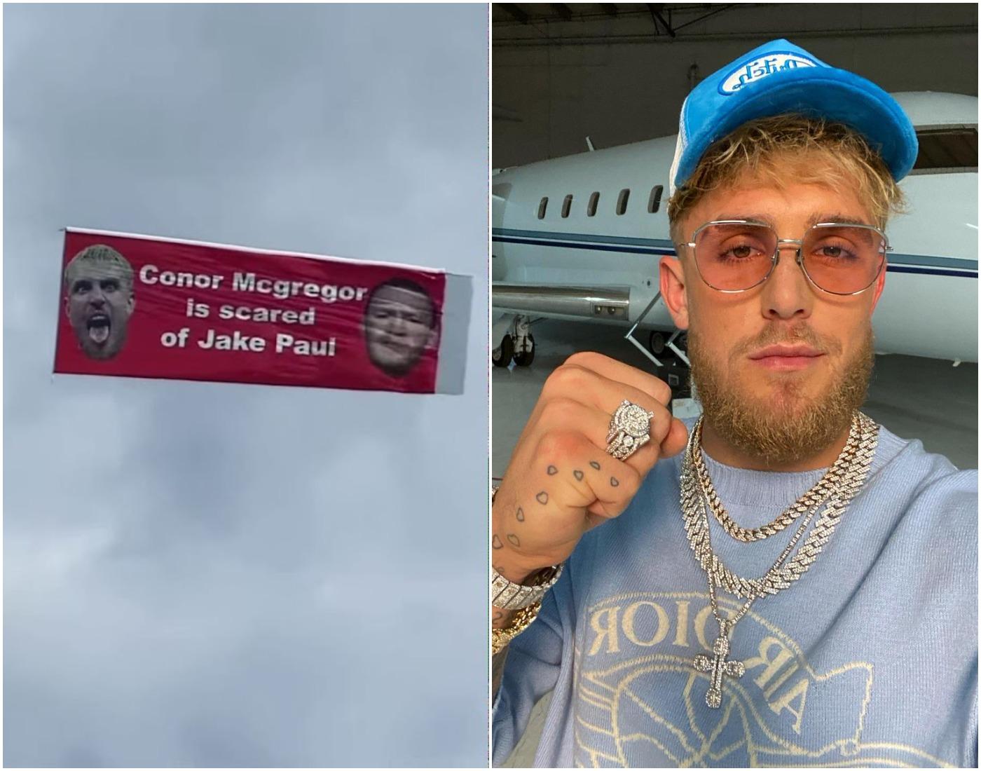 Джейк Пол показа със самолет, че Макгрегър се страхува от него