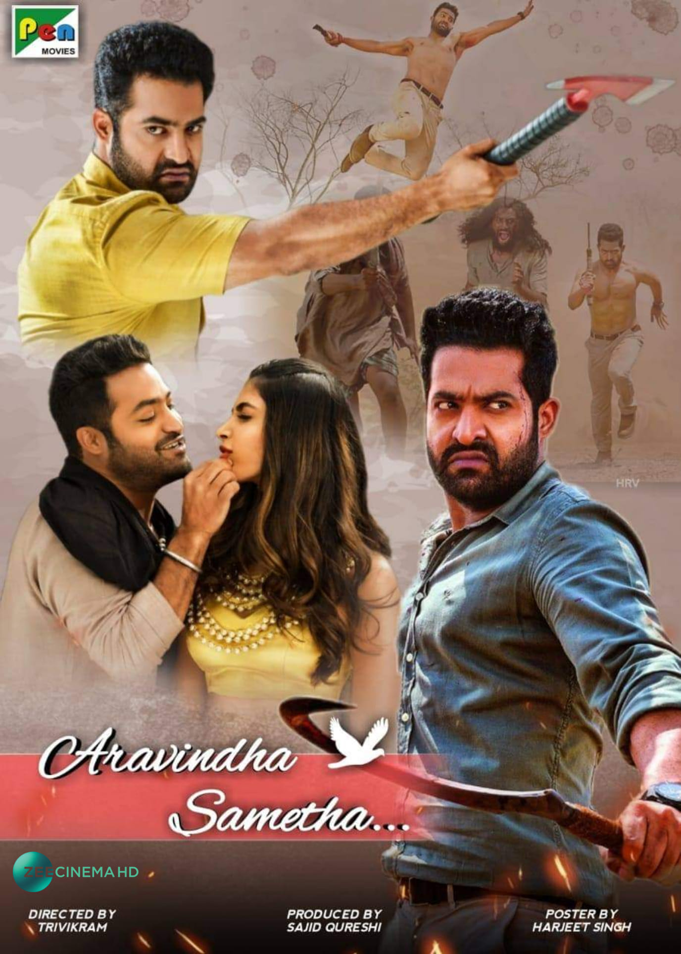 Aravinda Sametha (2020) Hindi Dubbed  480p | 720p Zee5 HDRip  450MB | 1.2GB Download