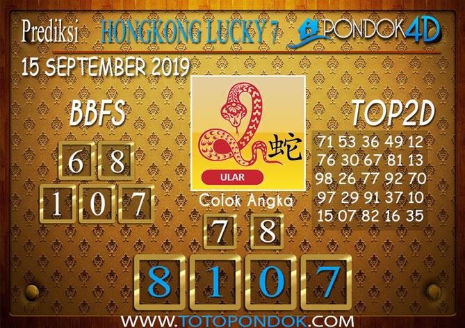 Prediksi Togel HONGKONG LUCKY 7 PONDOK4D 15 SEPTEMBER 2019