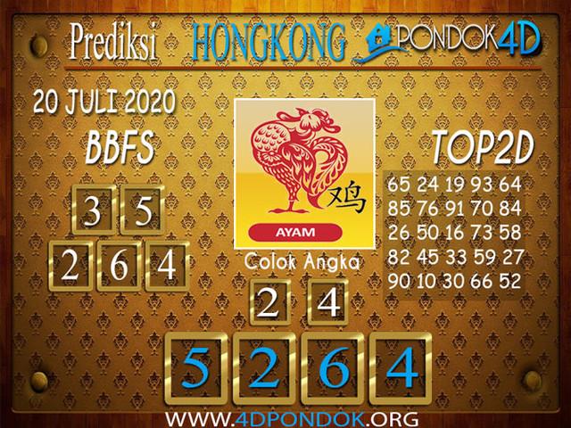 Prediksi Togel HONGKONG PONDOK4D 20 JULI 2020