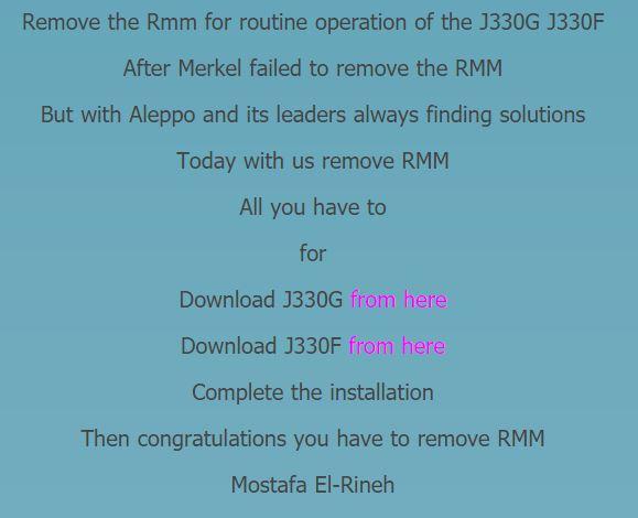 J330G RMM State Prenormal Solution Needed