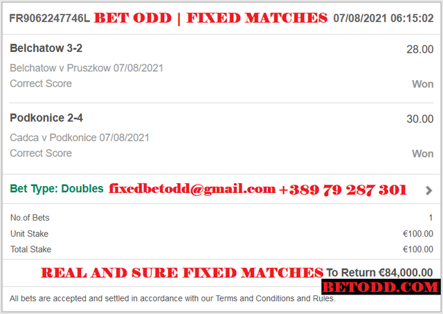 BET ODD CORRECT SCORE FOR 07/08/2021   BEST CORRECT SCORE FIXED MATCHES