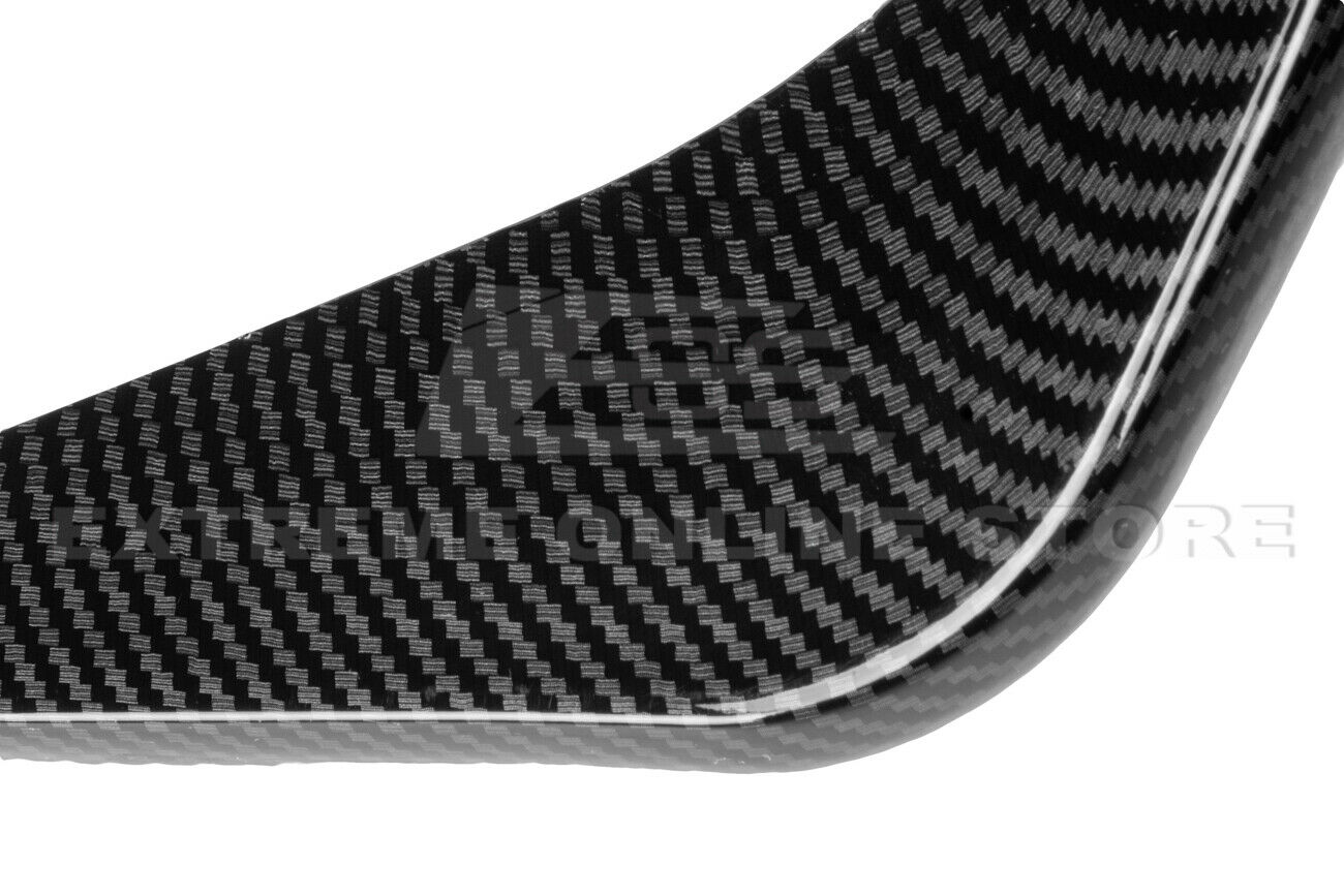 For 14-19 C7 Corvette Hydro Carbon Fiber Rear Bumper Lower Air Diffuser Fins Kit