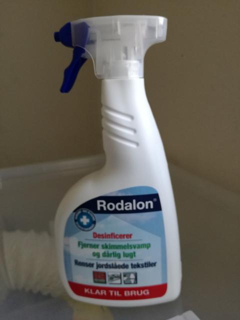 Rodalon til desinficering.