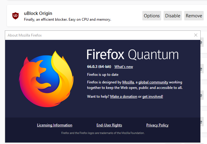 uBlock Origin Problems on Firefox : uBlockOrigin