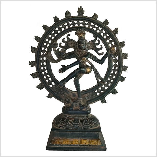 ME-Shiva-Nataraja-31cm-2-9kg-Messing-oldgreen-vorne