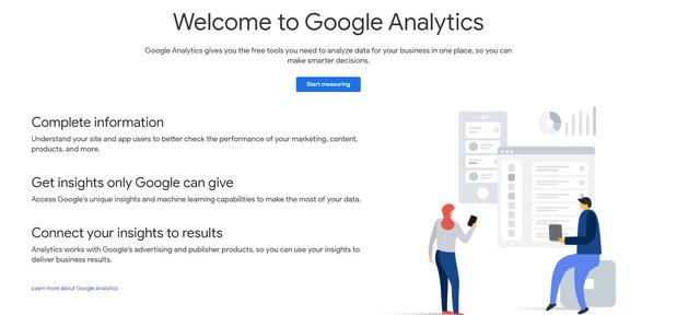 Google Analytics Homepage - Hotcopy