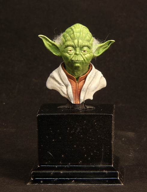 """Do. Or do not. There is no try"" (Buste Yoda) IMG-3395-1"