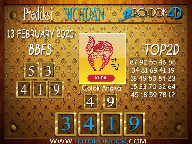 Prediksi Togel SICHUAN PONDOK4D 13 FEBRUARY 2020