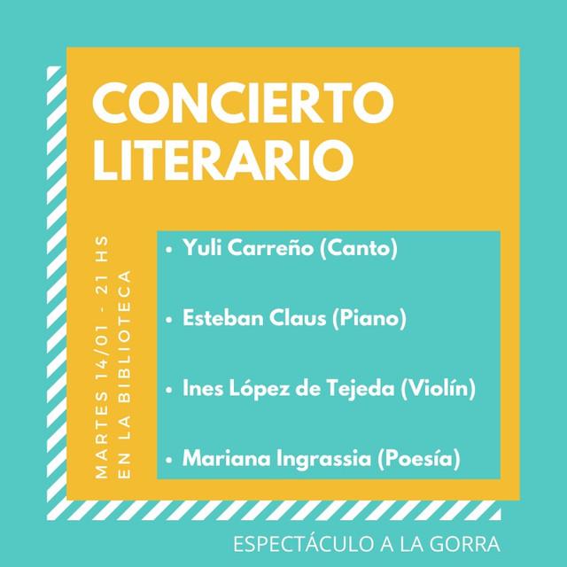 Locales: Biblioteca Popular: Concierto Literario