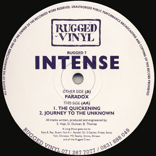Intense - Paradox / The Quickening / Journey To The Unknown