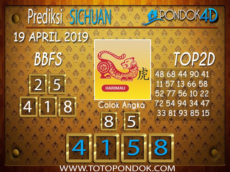 Prediksi Togel SICHUAN PONDOK4D 19 APRIL 2019