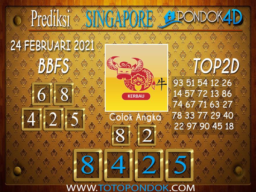 Prediksi Togel SINGAPORE PONDOK4D 23 FEBRUARI 2021