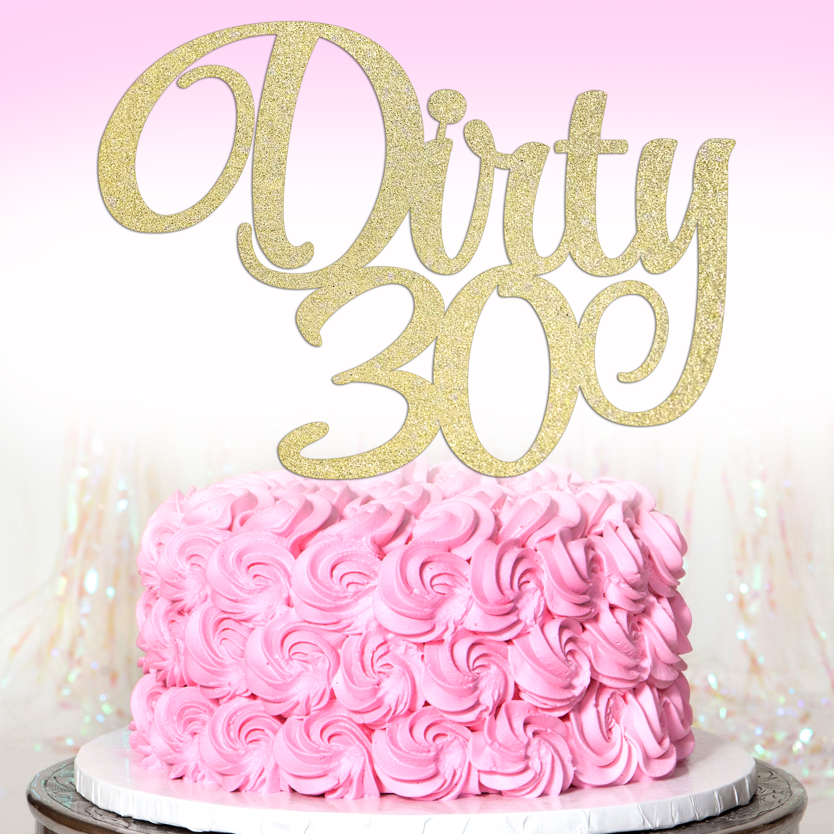 Awesome Dirty Thirty Cake Topper 30Th Birthday Cake Topper Glitter Personalised Birthday Cards Paralily Jamesorg