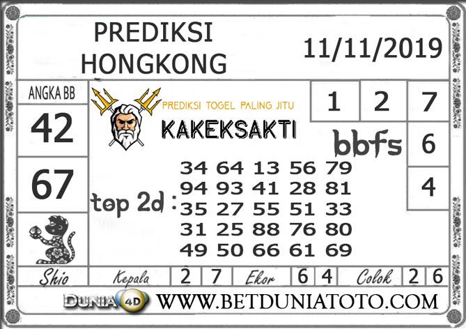 """Prediksi Togel """"HONGKONG"""" DUNIA4D 11 NOVEMBER 2019"""