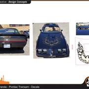 TBC Marco Miranda Pontiac Transam Decals FRONT REAR