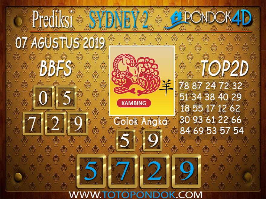 Prediksi Togel SYDNEY 2 PONDOK4D 07 AGUSTUS 2019